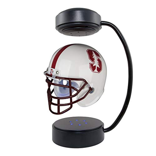 Stanford Cardinal NCAA Hover Helmet - Collectible Levitating Football Helmet with Electromagnetic Stand