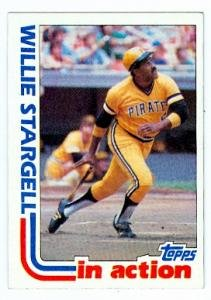 (Willie Stargell baseball card (Pittsburgh Pirates) 1982 Topps #716 In Action)