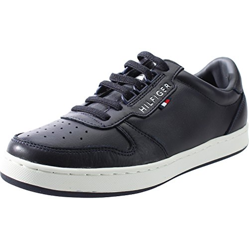 Tommy Hilfiger H3285oxton Jr 1A Midnight Leather Youth Sneakers Midnight