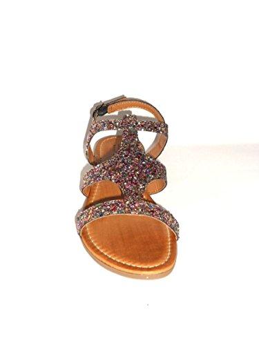 ZETA SHOES - Sandalias de vestir de Piel para mujer fantasie colorate