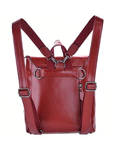 Lazutom - Bolso mochila  para mujer Rojo rojo large rojo