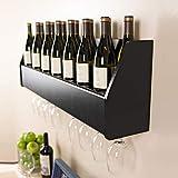 Floating Wine Rack in Black