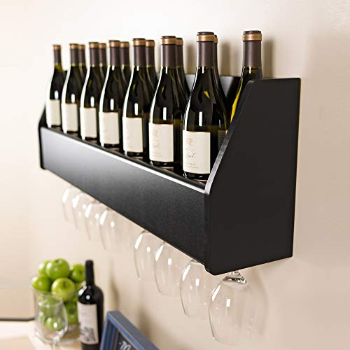 (Floating Wine Rack in Black)