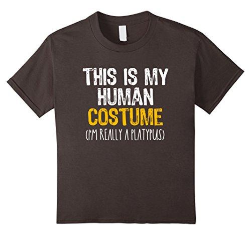 Crazy 8 Fairy Costume (Kids This Is My Human Costume Platypus Halloween Funny T-shirt 8 Asphalt)