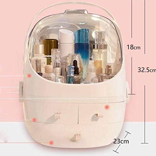 コスメボックス メイクボックス 大容量メイクケース 化粧品収納ケース 小物入れ 持ち運び 防塵 防水 強い耐久性 まとめ収納 浴室収納 テーブル整理 25.5*23*32.5cm 31.5*27.5*28cm ホワイト ピンク