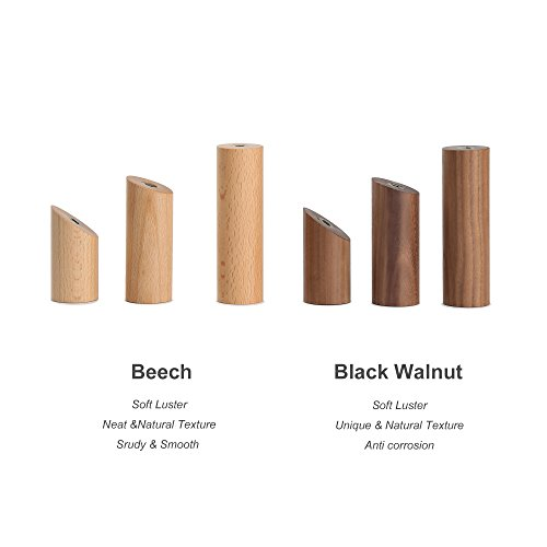 ETECHMART Pack of 6 Wooden Utility Hook Hanging Coat Hat Wall Mounted (Beech, 3 Inches)