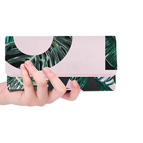 Unique Custom Love Fashion Design Floral Tropical Women Trifold Wallet Long Purse Credit Card Holder Case Handbag