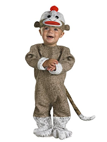 Disguise Infant & Toddler Boys & Girls Sock Monkey Costume 12-18 Months ()