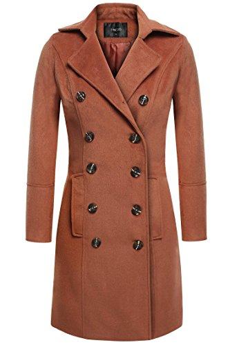 Simple Wool Coat (Etuoji Turn Down Collar Long Trench Coat Wool Pea Coat Winter Outwear (3 Colors,S-3XL))