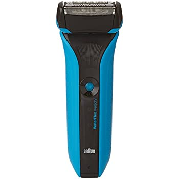 Braun Series Waterflex Wet and Dry Shaver Electric Shaver for Men WF2S; Rechargeable Electric Razor, Blue