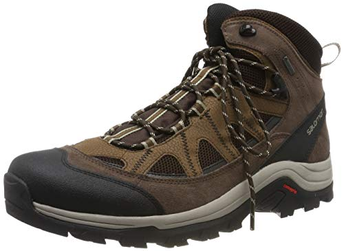 Boot Gtx Backpacking Mid (Salomon Men's Authentic LTR GTX Backpacking Boot, Black Coffee/Chocolate Brown/Vintage Kaki, 10.5 M US)