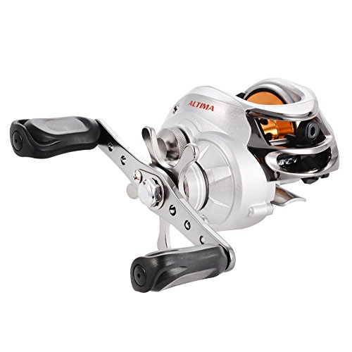 (Isafish Baitcaster Reels Left / Right Handed Baitcasting Reels 6.3:1 Gear Low Profile Baitcast Bait Casting Fishing Reels 10BB)
