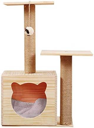 猫の木と塔、小さな猫のおもちゃの猫のトイレ、猫のゲームエンターテイメントセンター、豪華な猫の巣と楽しいハンギングボール、猫のおもちゃ40x35x73cm (Size : 40x35x73cm)