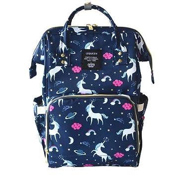 Diaper Bag Changing Nappy Backpack with Wide Open Design Large Capacity Waterproof Mummy Bag Multi-Function Stylish for Mom/Dad Travel with Baby (Dark Blue) SHEN ZHEN SHI NAN SHAN QU ZHI JI PI JU XIANG BAO CHANG