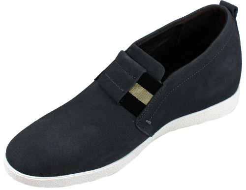Shoes 2 Height Calden 4 K276022 Suede Increasing Slip Grey inches Taller on Elevator xUnR8SqRp5