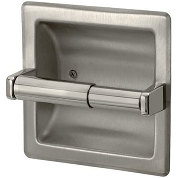 Brushed Nickel Recessed Toilet Paper Holder Includes Rear Mounting Bracket Amazon Ca Home Kitchen