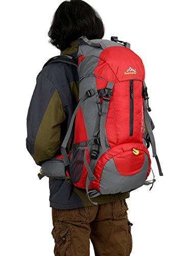 BestWahl Wanderrucksack Rucksack Trekkingrucksack Damen Herren Rot 0zMw4CoLNA