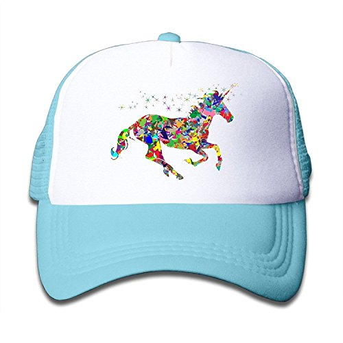 Duola Modern Magical Unicorn Girl's Cap Running Cap Lightweight Mesh Flexfit - Barbara Entourage