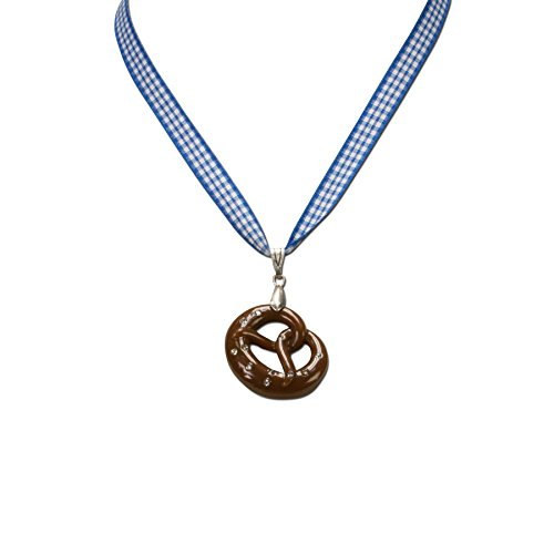 Alpenflüstern Damen Trachten-Halskette Breze blau DHK06300060