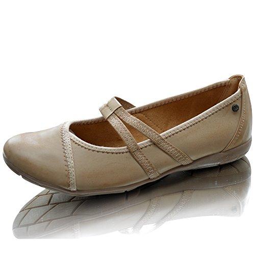 dolly tailles kaki britanniques ballet marche Femmes chaussures de occasionnelles ballerine marron 8 plates dames 3 wZzqqxUnIp