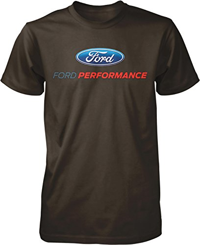Cotton Performance Muscle Shirt (Hoodteez Ford Performance, Officially Licensed Men's T-Shirt, M Brown)