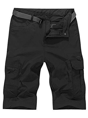 OCHENTA Men's Outdoor Water-Resistant Quick Dry Cargo Shorts Black Size XL - US 32