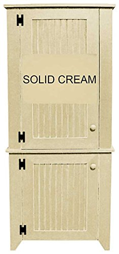 Sawdust City 2 Piece Kitchen Pantry Cabinet (Solid Cream)  sc 1 st  Amazon.com : kitchen pantry cabinet - hauntedcathouse.org