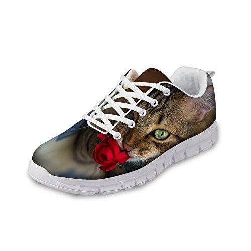 それによって残り要塞ThiKin スポーツシューズ レディース かわいい 猫 柄 軽量 トラベルランニングシューズ 個性的 クッション性 カジュアル デイリー 3Dプリント 靴 日常着用 通気 おしゃれ ファッション 通勤 通学 プレゼント