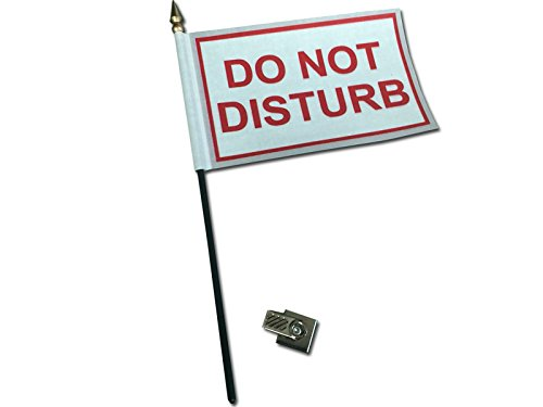 Do Not Disturb Desk Flag with Flag Up Flag Down 360 Clip Pomodoro Status Alert Office