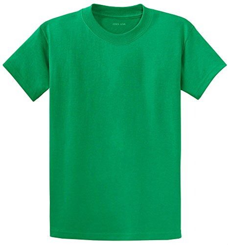 Joe's USA(tm - Youth Heavyweight Cotton Short Sleeve T-Shirt in Size M Kelly Green