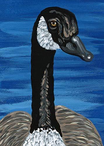 Aceo Bird - ACEO ATC -Free Shipping-Canada Goose Bird-Original Art Miniature Painting-Carla Smale