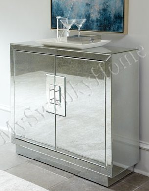 Contemporary Lily MIRRORED CABINET Modern Accent