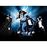 Michael Jackson 3D Poster Wall Art Décor Print   King of Pop Moonwalk Music Star Tribute   11.8x15.7   3D Lenticular Holographic Posters   Collectible Fan Memorabilia Gifts   Cool Rare Room Picture