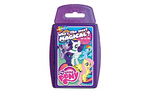 TOP TRUMPS - MY LITTLE PONY- WHICH IS THE MOST MAGICAL? ! Perfect for indoors, travelling, camping and holidays by Holland Plastics Original Brand