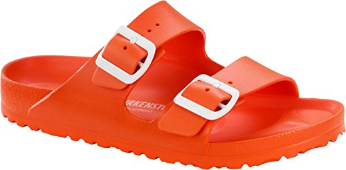 Birkenstock Unisex Arizona EVA Dual Buckle Sandals, Scuba Coral - 39 N EU