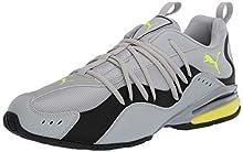PUMA Men's SILVERION Sneaker, High Rise Black-Yellow Alert, 11.5 M US