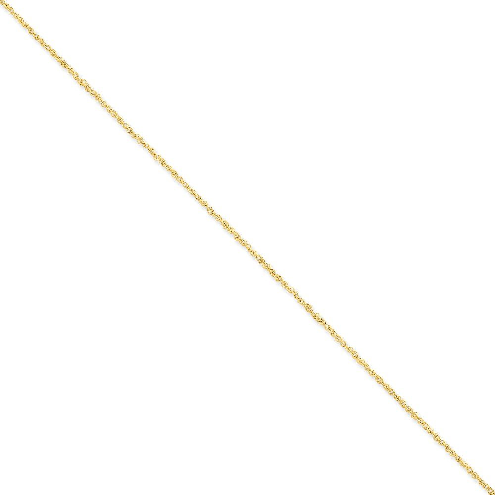 Top 10 Jewelry Gift 14K 1.7mm Ropa Anklet