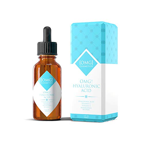 OMG! Hyaluronic Acid Serum for Face with Retinol and Vitamin C + E - POTENT Anti Aging Wrinkle Facial Serum