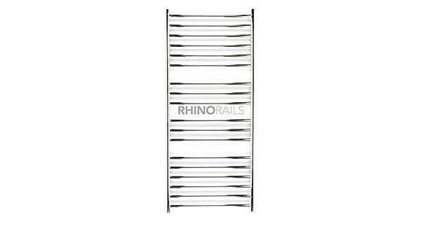 rhinorails 1300 x 600 mm Ergo (plano), 600 Acero Inoxidable - Toallero eléctrico calefactor | - Cuarto de baño Radiador montado en acero inoxidable pulido, ...