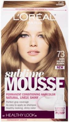 L\'Oreal Sublime Hair Color Mousse - #73 Golden Dark Blonde ...