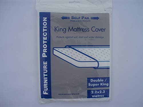 MATTRESS COVER Double/King/Superking for Moving or Storage (Large Polythene bag). It is manufactured to the standard required by Removal Companies and is sufficiently strong for normal use.
