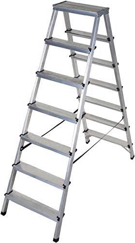 Brennenstuhl - Escalera doble (aluminio, 2 x 7 peldaños, 1,46 m): Amazon.es: Bricolaje y herramientas