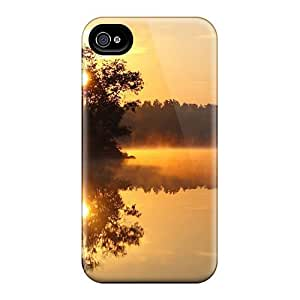 Snap-on Case Designed For Iphone 4/4s- Golden Sunrise