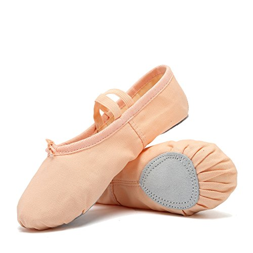 CIOR Ballet Slippers For Girls Classic Split-Sole Canvas Dan