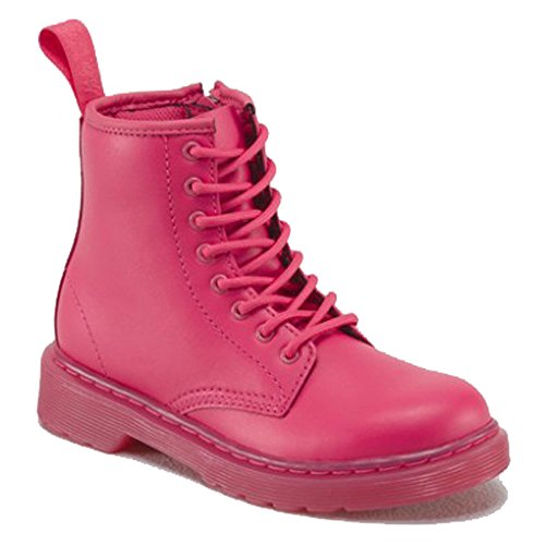 Dr. Martens Girl's Delaney Juniors Lace Boot Neon Pink Softy T 1 -
