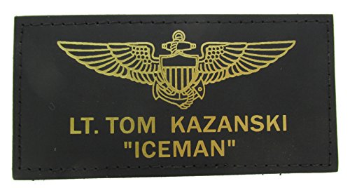 (LEATHER Top Gun Flight Badge for Halloween Costumes)