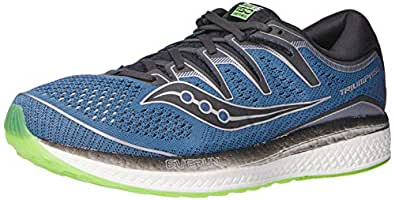 Saucony Triumph ISO 5 Men's Running Shoes, Steel/Black, 8 US