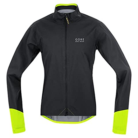 GORE BIKE WEAR, Men´s, road cyclist jacket, Waterproof, GORE-TEX Active, POWER GT AS, Size XL, Black/Neon Yellow, JGPOWR