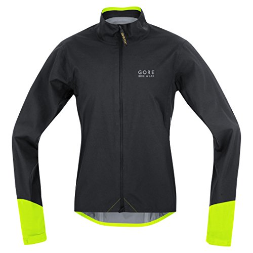 Gore Bike WEAR, Men´s, Road Cyclist Jacket, Waterproof, Gore-TEX Active, Power GT AS, Size M, Black/Neon Yellow, JGPOWR