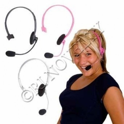 (Rhode Island Novelty Pink Pop Star Headset | Prop Only | One Per Order |)